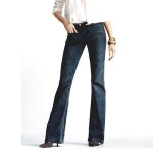 CAbi dark wash wide leg jeans, sz 8